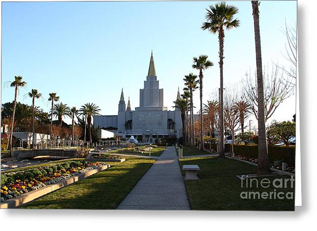 Oakland California Temple . The Church Of Jesus Christ Of Latter-day Saints . 7d11371 Greeting Card by Wingsdomain Art and Photography