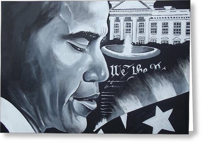 Obama Greeting Card by Alonzo Butler