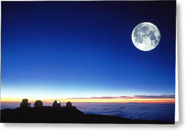 Observatories At Mauna Kea, Hawaii Greeting Card