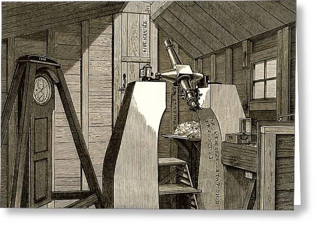 Observatory For 1874 Transit Of Venus Greeting Card