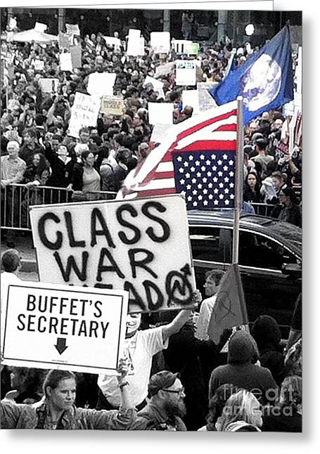 Occupy Wall Street Flags Greeting Card