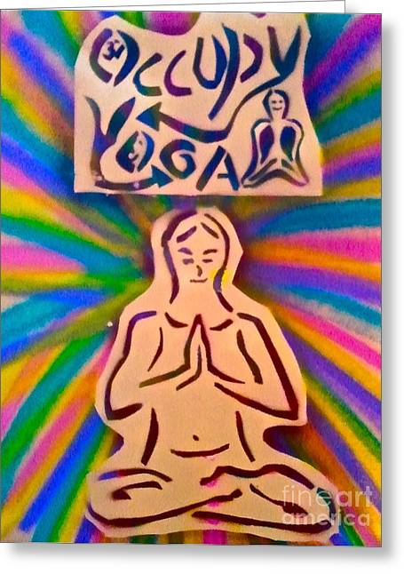 Occupy Yoga Greeting Card