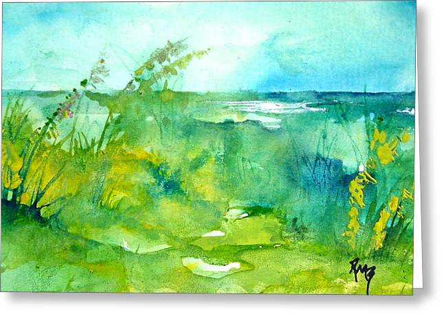 Ocean And Shore Greeting Card by Robin Miller-Bookhout
