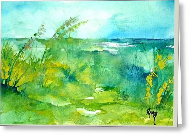 Ocean And Shore Greeting Card