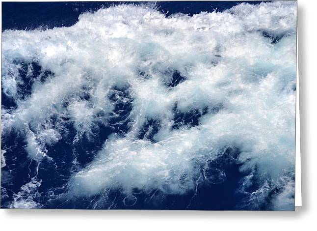 Ocean Blue Greeting Card by Terence Davis
