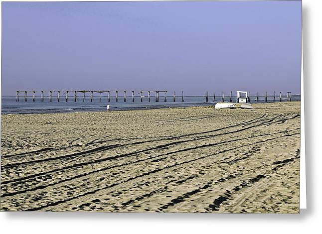Ocean City Nj The Old Pier Greeting Card by Paul Plaine