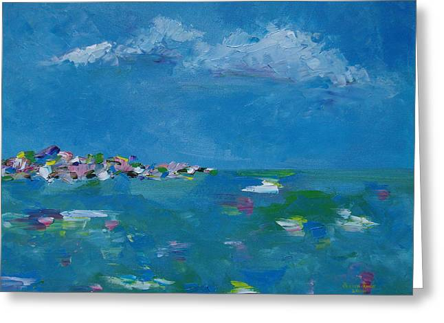Greeting Card featuring the painting Ocean Delight by Judith Rhue