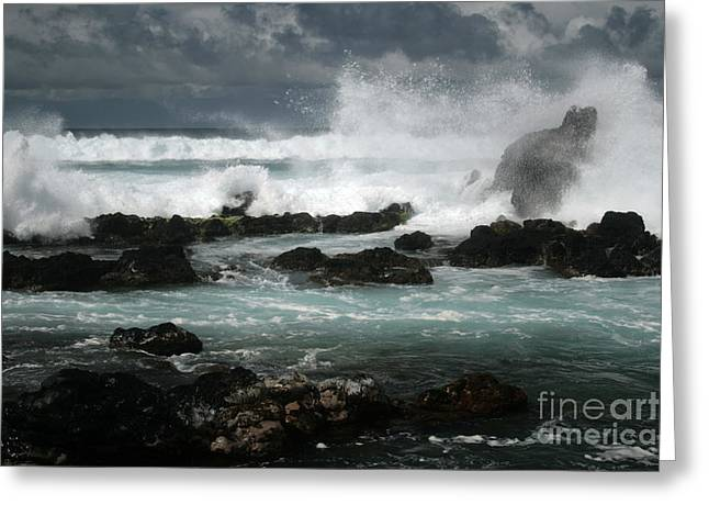 Ocean In Motion Greeting Card by Sharon Mau