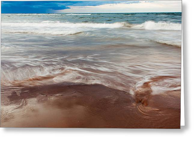 Ocean Panorama Greeting Card by Matt Dobson