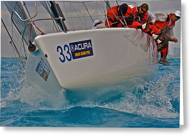 Ocean Racing Southern Florida Greeting Card by Steven Lapkin