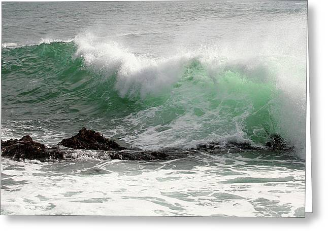 Greeting Card featuring the photograph Ocean Spray by Michael Rock