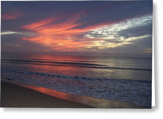 Ocean Sunrise Greeting Card by Sheila Silverstein