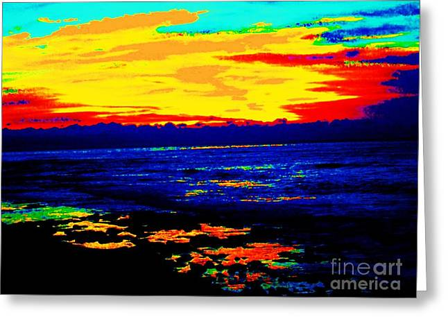 Greeting Card featuring the photograph Ocean Sunset by Jasna Gopic
