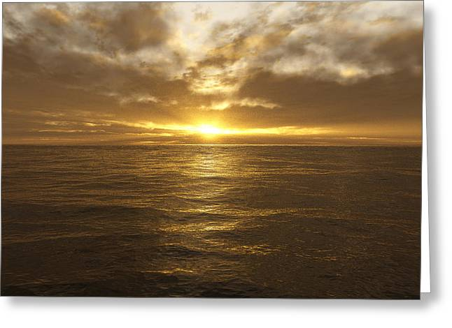 Ocean Sunset Greeting Card by Mark Greenberg