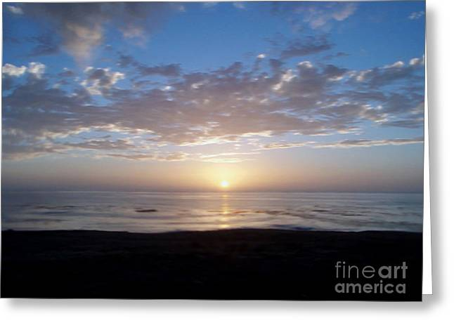 Ocean Sunset  Greeting Card by The Kepharts