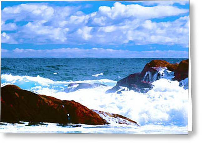 Ocean Surf Greeting Card by Phill Petrovic