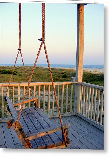 Greeting Card featuring the photograph Ocean View At Oak Island Nc by Kelly Nowak
