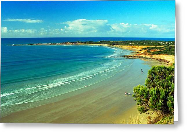 Greeting Card featuring the photograph Ocean Walk by Dennis Lundell