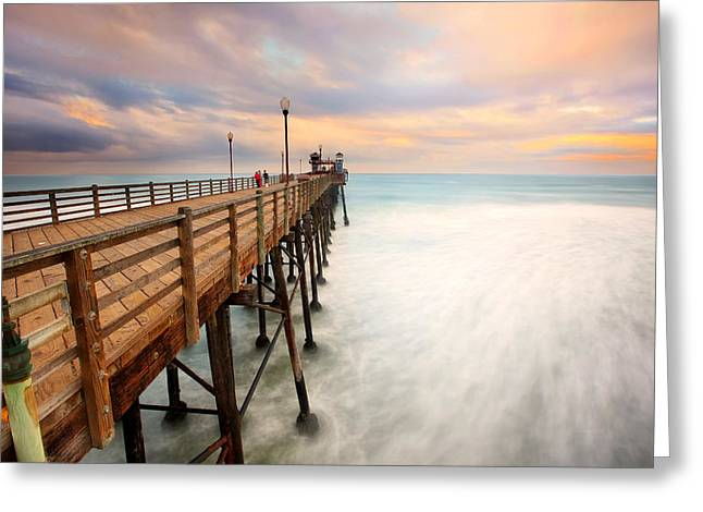 Oceanside Sunset 5 Greeting Card by Larry Marshall