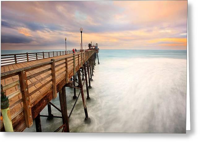 Oceanside Sunset 5 Greeting Card