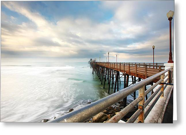 Oceanside Sunset 6 Greeting Card by Larry Marshall