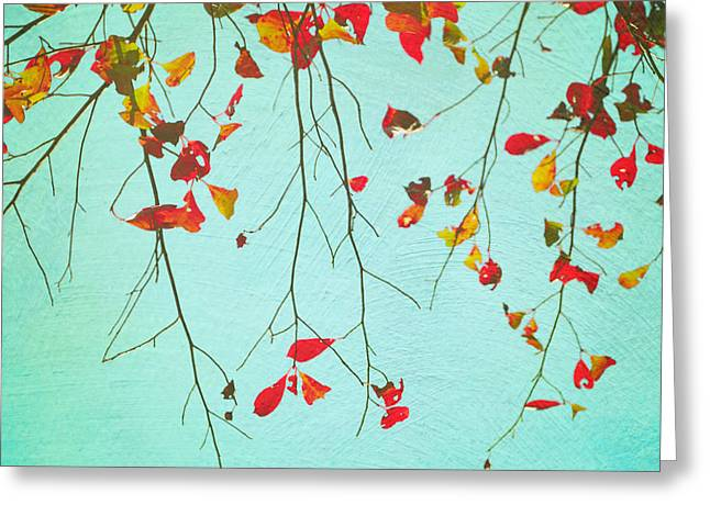 October Greetings Greeting Card by Sharon Kalstek-Coty