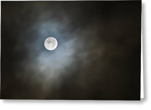 October Moon Greeting Card by Steve Sperry