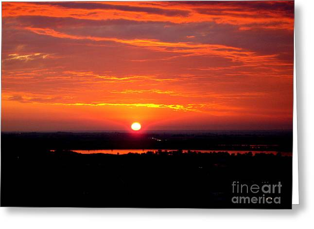 October Sunrise Greeting Card by Marilyn Magee