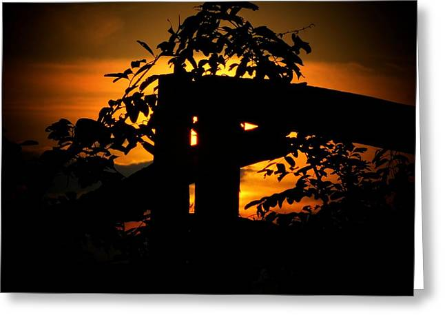 October Sunset Greeting Card by Michael L Kimble