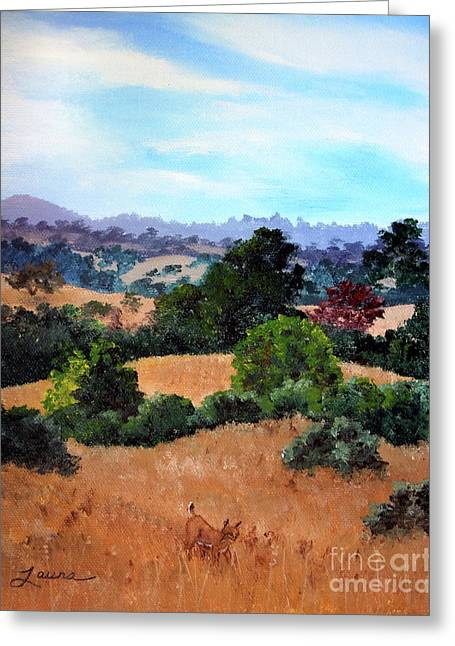 October View Of Arastradero Greeting Card by Laura Iverson