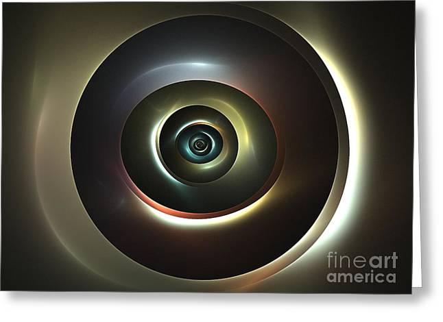 Ocular Lens Greeting Card by Kim Sy Ok