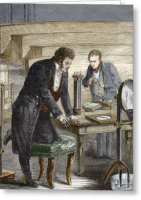Oersted Discovering Electromagnetism Greeting Card