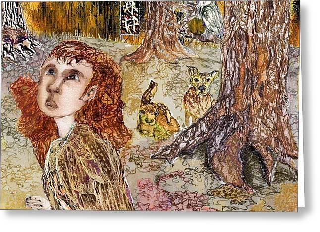 Of The Forest  Greeting Card by Cynthia  Richards