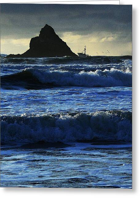 Off Arch Cape Greeting Card