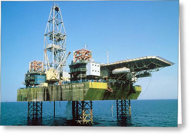 Off-shore Oil Rig Greeting Card by Ria Novosti