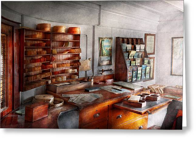 Office - The Purser's Room Greeting Card by Mike Savad
