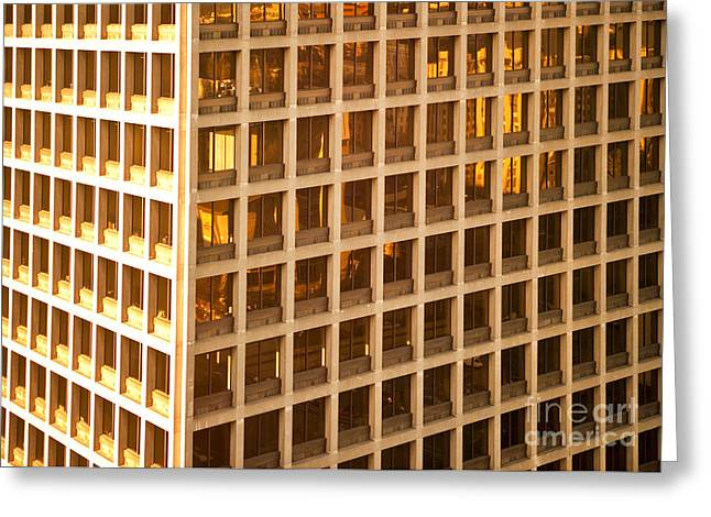Office Building Greeting Card by David Buffington