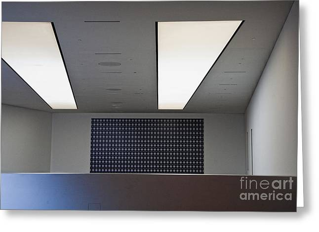 Office Ceiling Greeting Card by David Buffington