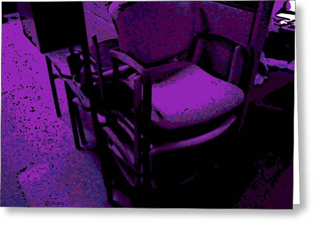 Office Chairs Greeting Card by George Pedro