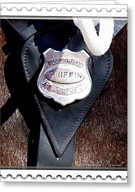 Officer Griffin Greeting Card by Danielle  Parent