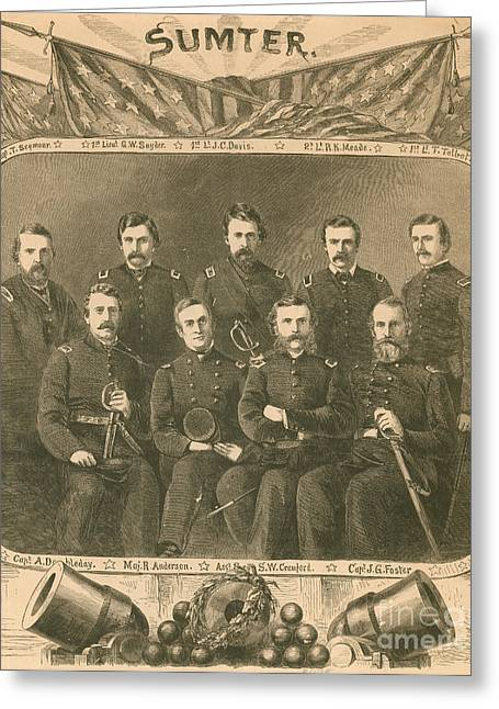 Officers Of The Union Garrison, Fort Greeting Card