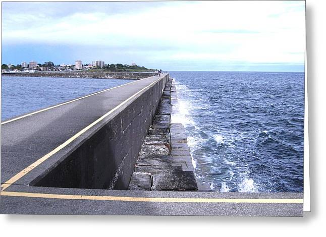 Ogden Point Breakwater Greeting Card