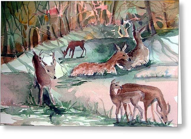 Oh Dear My Deer Greeting Card by Mindy Newman