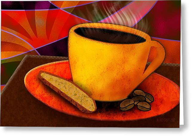 Ohhh.. Coffee Greeting Card by Melisa Meyers