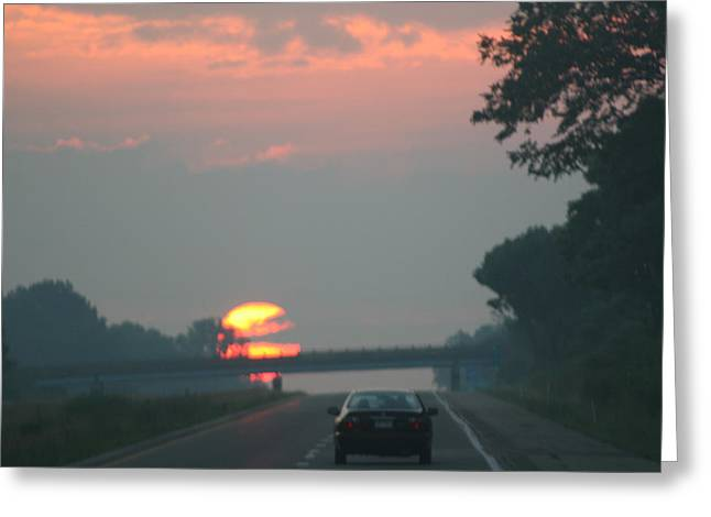 Ohio Sunrise Greeting Card