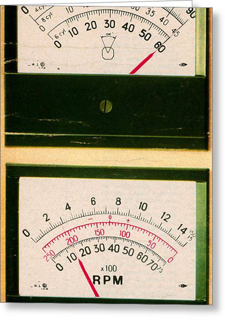 Ohmmeter And Mercury Meter Greeting Card by Science Source
