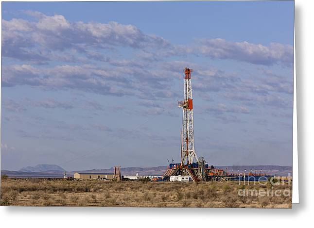 Oil Exploration Drill Greeting Card by Jeremy Woodhouse