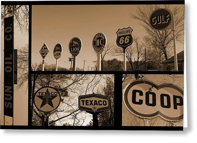 Oil Sign Retirement Greeting Card by Betty Northcutt