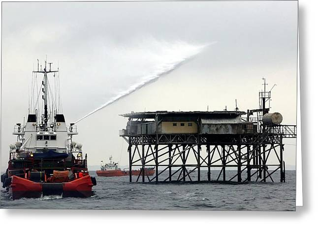 Oil Spill Exercise Greeting Card
