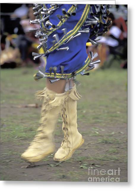 Ojibway Dancer In Jingle Dress Greeting Card by Gordon Wood